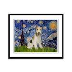 Starry / Fox Terrier (W) Framed Panel Print