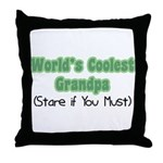 World's Coolest Grandpa Throw Pillow
