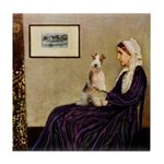 Mom's Wire Fox Terrier Tile Coaster