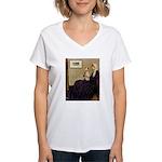 Mom's Wire Fox Terrier Women's V-Neck T-Shirt