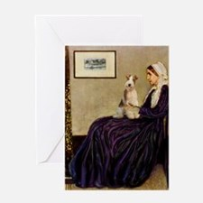 Mom's Wire Fox Terrier Greeting Card