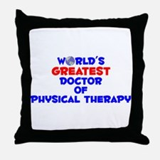 World's Greatest Docto.. (A) Throw Pillow