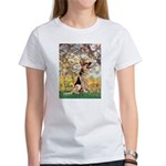 Spring & German Shepherd Women's T-Shirt