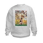 Spring & German Shepherd Kids Sweatshirt