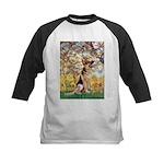 Spring & German Shepherd Kids Baseball Jersey