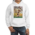 Spring & German Shepherd Hooded Sweatshirt