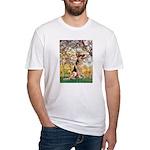 Spring & German Shepherd Fitted T-Shirt