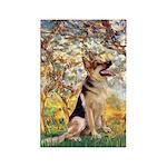 Spring & German Shepherd Rectangle Magnet