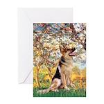 Spring & German Shepherd Greeting Card