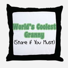 World's Coolest Granny Throw Pillow