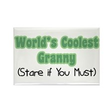 World's Coolest Granny Rectangle Magnet
