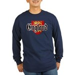 England Coat of Arms Long Sleeve Dark T-Shirt