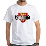 England Coat of Arms White T-Shirt