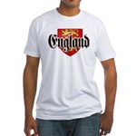 England Coat of Arms Fitted T-Shirt