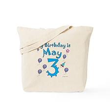 May 3rd Birthday Tote Bag