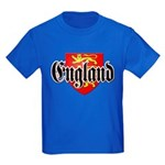 England Coat of Arms Kids Dark T-Shirt