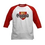 England Coat of Arms Kids Baseball Jersey