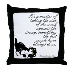 Weak Against the Strong Throw Pillow