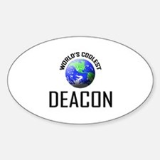 World's Coolest DEACON Oval Decal