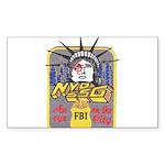 FBI New York District SSG Rectangle Sticker
