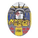 FBI New York District SSG Oval Ornament
