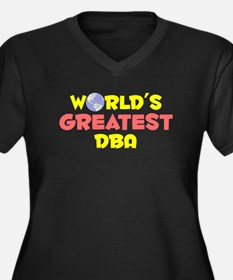 World's Greatest DBA (B) Women's Plus Size V-Neck