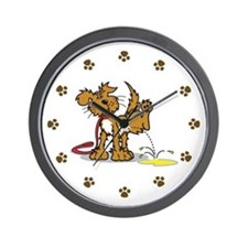 Potty Puppy Wall Clock
