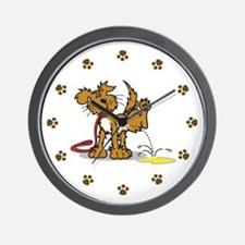Potty Puppy Wall Clock