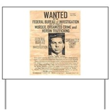 Lucky Luciano Yard Sign