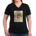 Lucky Luciano Women's V-Neck Dark T-Shirt