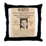 Lucky Luciano Throw Pillow