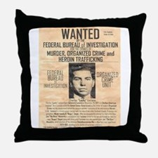 Lucky Luciano Throw Pillow