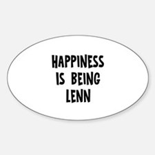 Happiness is being Lenn Oval Decal