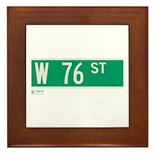 76th Street in NY Framed Tile