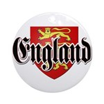 England Coat of Arms Ornament (Round)