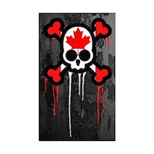 Canadian Punk Skull Decal