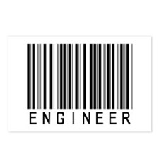 Engineer Bar Code Postcards (Package of 8)