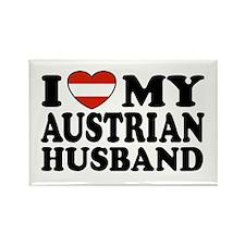 I Love My Austrian Husband Rectangle Magnet