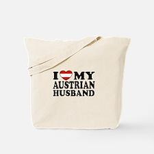 I Love My Austrian Husband Tote Bag