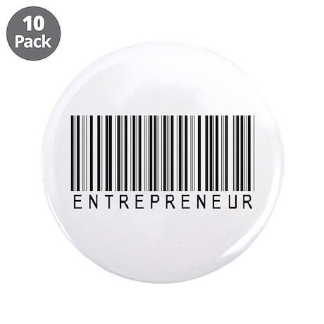 "Entrepreneur Bar Code 3.5"" Button (10 pack)"