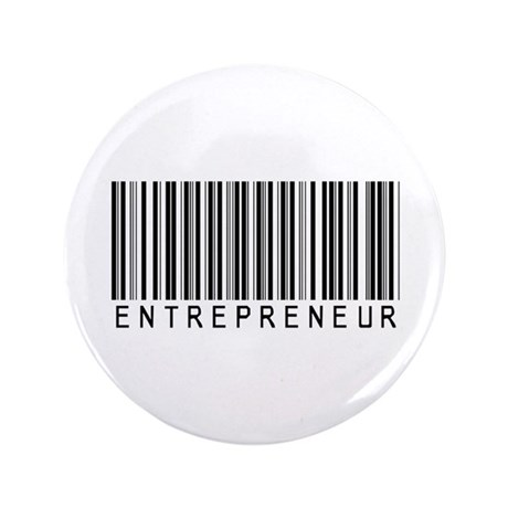 "Entrepreneur Bar Code 3.5"" Button (100 pack)"