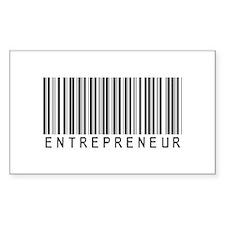 Entrepreneur Bar Code Rectangle Decal