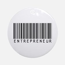 Entrepreneur Bar Code Ornament (Round)
