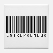 Entrepreneur Bar Code Tile Coaster