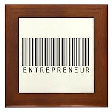 Entrepreneur Bar Code Framed Tile