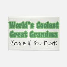 World's Coolest Great Grandma Rectangle Magnet