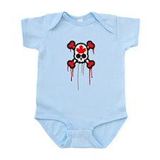 Canadian Punk Skull Infant Bodysuit