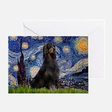 Starry Night & Gordon Greeting Card