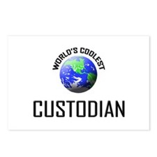 World's Coolest CUSTODIAN Postcards (Package of 8)