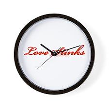 Love Stinks Wall Clock